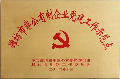 潍坊市非公有制经济党建工作示范点